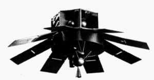 Mockup of a film readout satellite (Air et Cosmos n°486, 1973)
