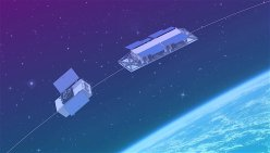 UrtheCast SAR/AIS (right) and optical (left) satellites