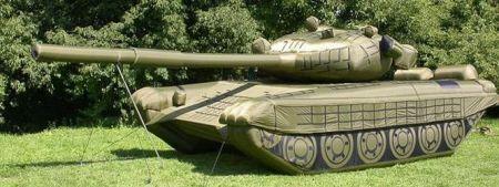 A Russian tank decoy
